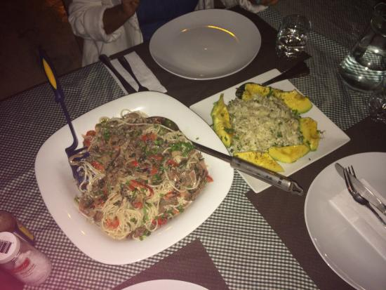Corales Punta Rusia : Dinner! Pasta prepared by the owner, Rene