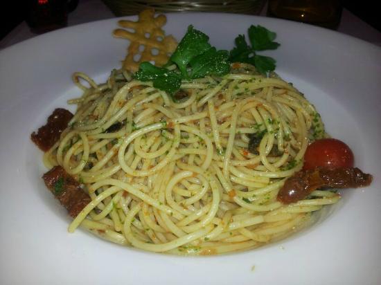 Leonardo Hotel Volklingen-Saarbrucken : Spaghetti Pesto mit getrockneten Tomaten