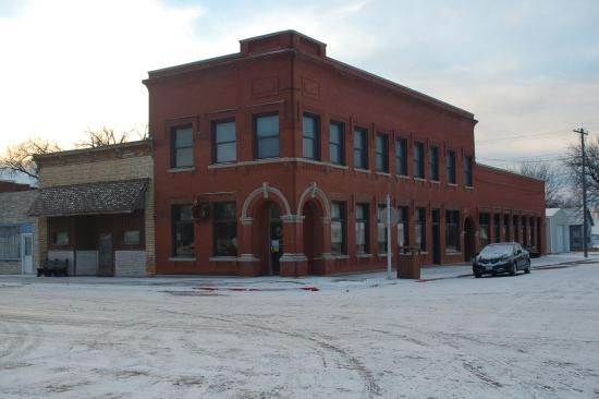 Jewell, KS: The Loft's as seen from the corner of the park.