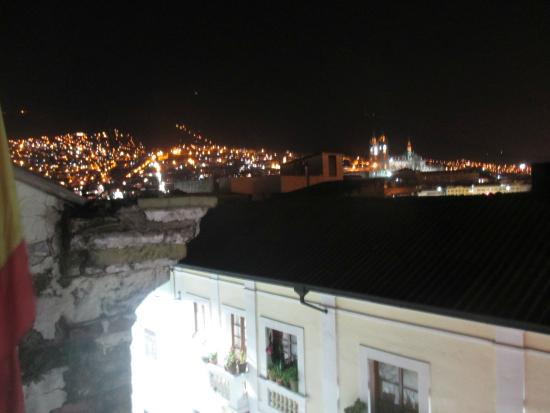 Colonial House Quito: view from balcony on the 3rd floor