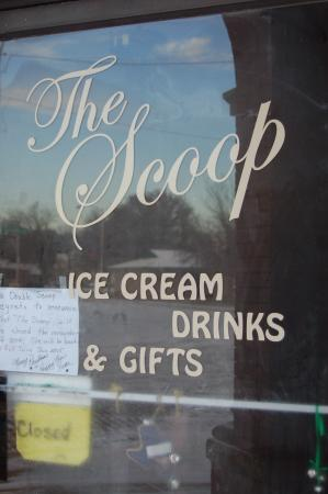Jewell, KS: The attached ice cream parlour, The Scoop
