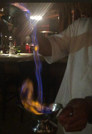 Esperanza - An Auberge Resort : Cascading blue flames of Mexican Coffee