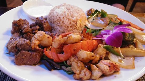 Lobster & Filet Dinner @ Bushido Asian Restaurant & Bar, 1517 Palm Blvd, Isle of Palms, SC 29451