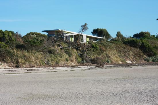 Beachside Retreat West Inlet : Cabin tucked behind sand dune