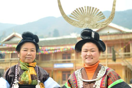 Miao Village : Where did you get this hairstyle?