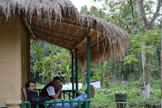 Nature Hunt Eco Camp, Kaziranga National Park: verandah of a cottage