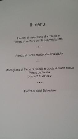 Hotel Belvedere Locarno: Menù