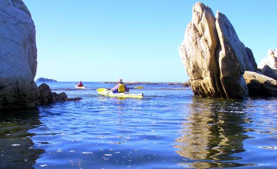 Bay and Beyond Sea Kayak Tours: up close look at the local geology