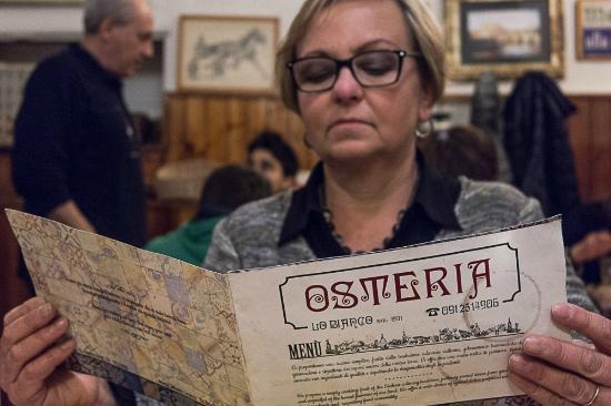 Osteria Lo Bianco: Il menù!