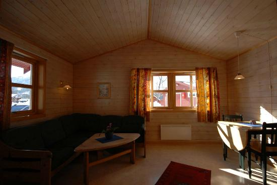 Troms, Norway: River Cabin livingroom