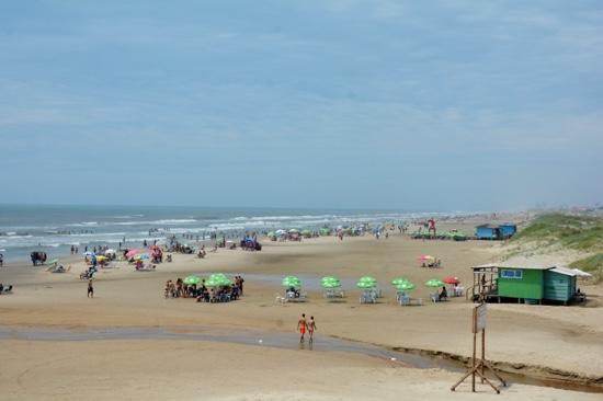 Imbe, RS: Vista da praia.