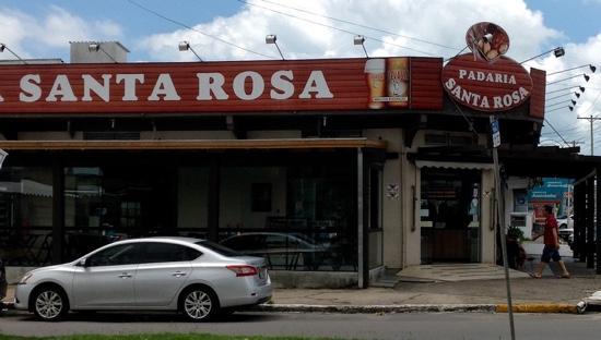 Padaria Santa Rosa: Fachada externa.