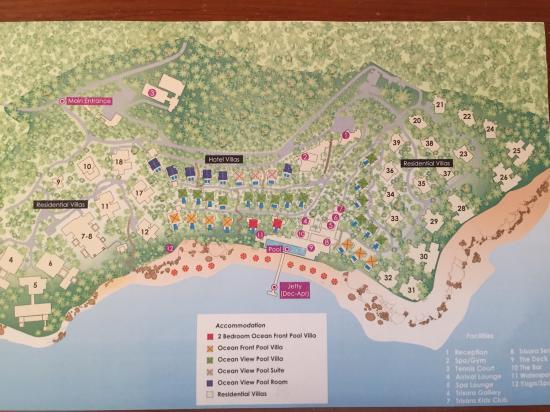 Trisara Phuket: Resort map