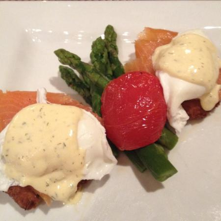 "Photo: ""Seafood eggs Benedict. Available for breakfast every day and ..."