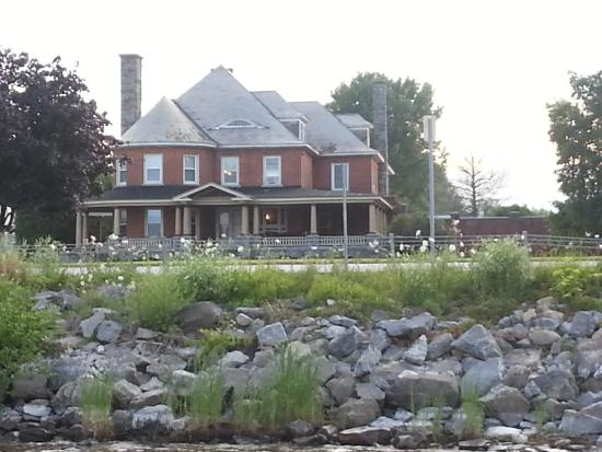 Rouses Point, NY: View of the house from down by the lake