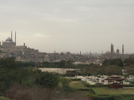 Al-Azhar Park: View of Mohammed Ali Mosque from park