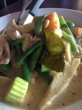 Tee Jay Thai Sushi in Wilton Manors : Green Chicken Curry