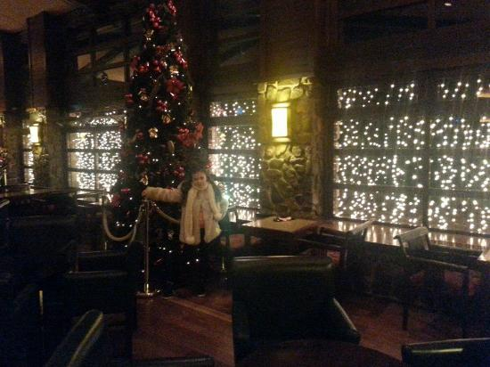 disneys sequoia lodge still has the christmas tree up - The Christmas Lodge