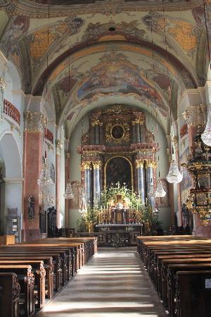 Stadtpfarrkirche St. Egid: Рождественское убранство алтаря