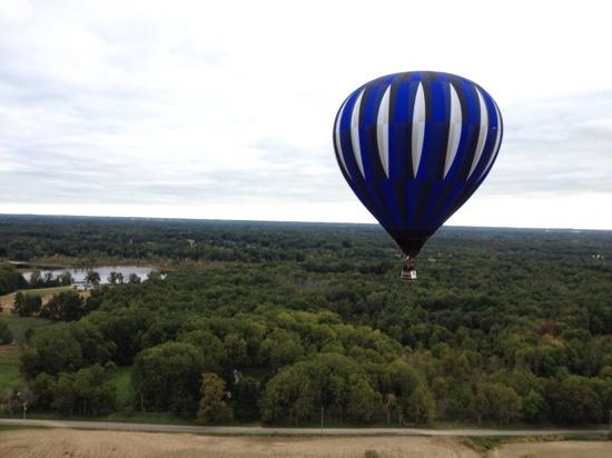 "a gorgeous flight in ""Sapphire"" north of town, Battle Creek MI."