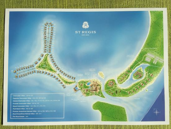 Map of the resort - Bild von The St. Regis Bora Bora Resort ...