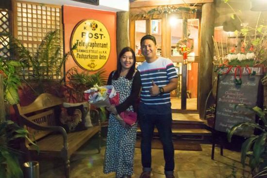 Chateau Hestia Garden Restaurant & Deli: She said YES