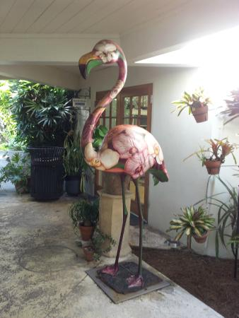 Miami Beach Botanical Garden: Big Flamingo Statue