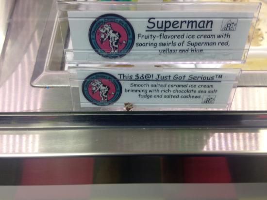 Funny ice cream names - Picture of The Spotted Cow, Adrian - TripAdvisor