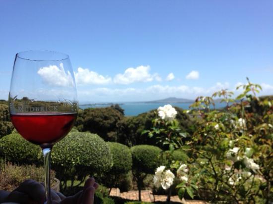 Mudbrick Vineyard: 最高の眺めをのぞんでワインを頂く