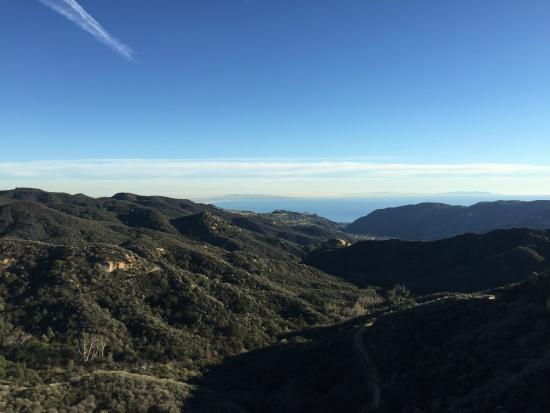 Topanga State Park : view from eagle rock to Santa Monica