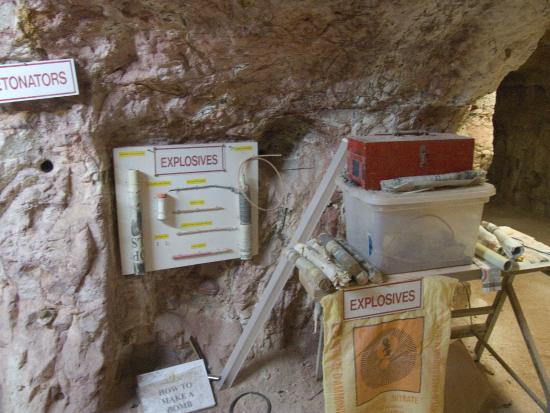 Tom's Working Opal Mine: Explosives