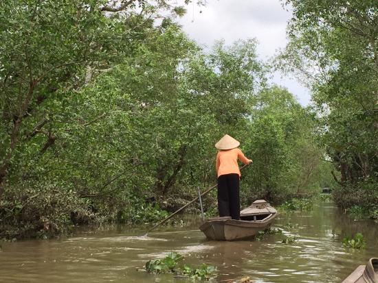 Mekong Lodge Vietnam Day Tour: While on our small rowing boat experience