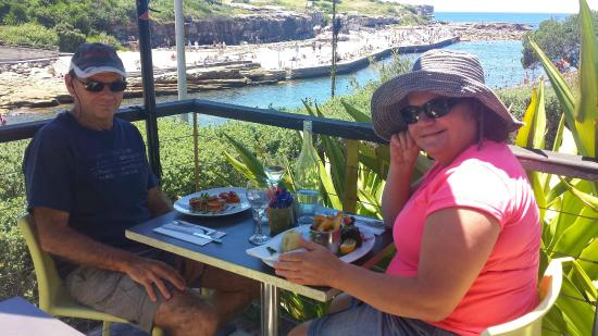 Seasalt Cafe: Perfect light lunch; with a view