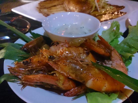 Red Snapper: Deep Fried Prawns with Tartar Sauce