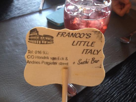 Franco's Little Italy : Table number