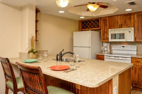 Resort on Cocoa Beach: All condos have a full kitchen
