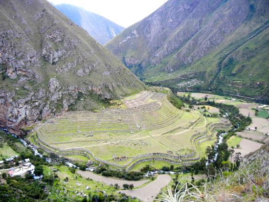 Overlooking Llaqtapata from the Inca Trail