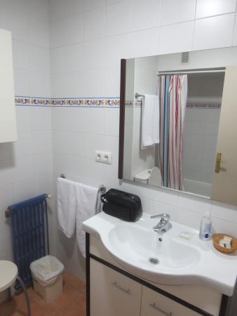 Apartamentos Astoria: bathroom and toilet