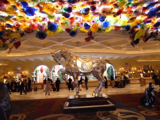 Lobby of bellagio with crystal chandelier and horse picture of signature at mgm grand lobby of bellagio with crystal chandelier and horse aloadofball Choice Image