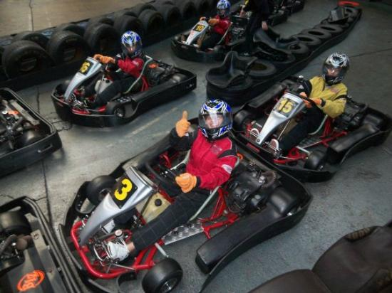 prep before hitting the tracks picture of cannon raceway indoor karting birmingham tripadvisor. Black Bedroom Furniture Sets. Home Design Ideas