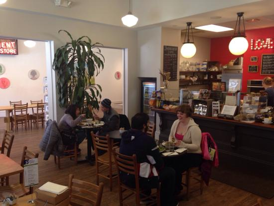 Cakewalk Bakery & Cafe: View from corner