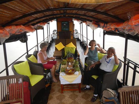 Mango Home Riverside: accueil à l'arrivée dans le bateau