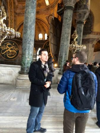 True Blue Tours - Day Tours: Akin presenting facts inside Hagia Sophia