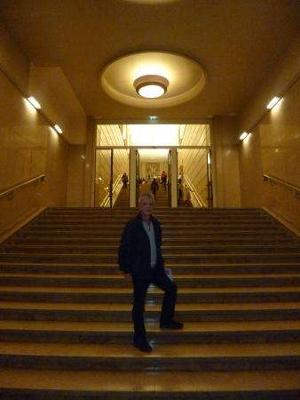 """Another aspect of the monumental stairway inside the """"Théâtre National de Chaillot"""" in Paris"""