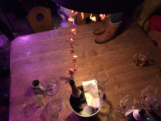 Nederhütte: Our flags touched the table first!!!!