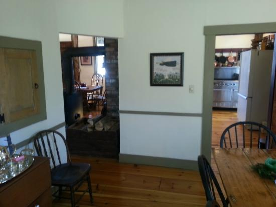 Grist Mill House: Living room picture through dining room