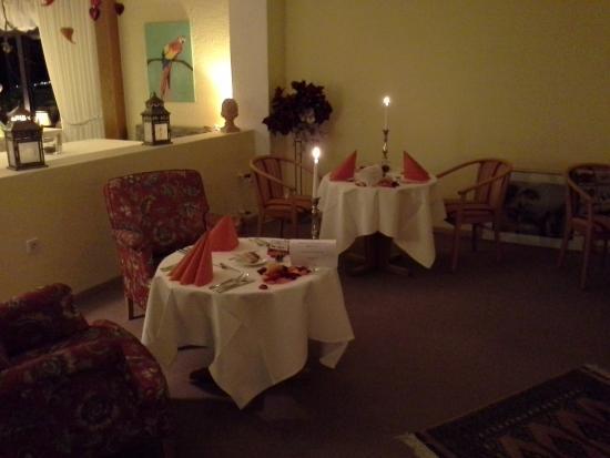 Hotel Terra Nova: Eingedeckt für das Candlelight-Dinner
