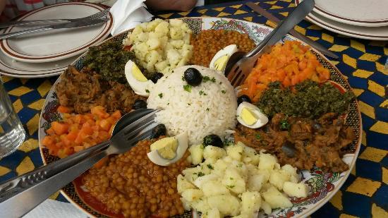 Cafe Terrasse Palais El Badia: Marrocan salad