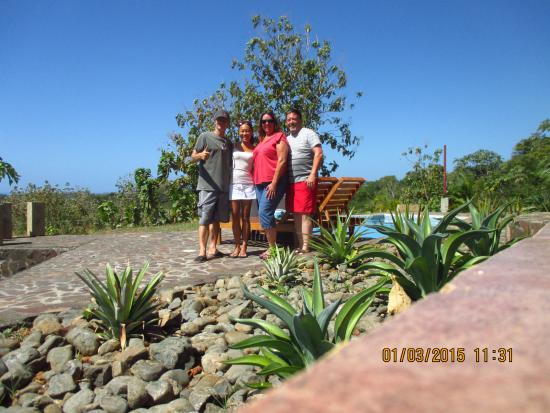 Rio Seco, Costa Rica: A last goodbye: Fabrice, Miho, Cindy and Rich.