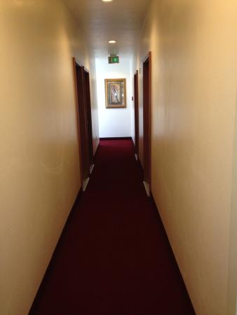 Apple Tree Inn : Hallway in upgraded wing